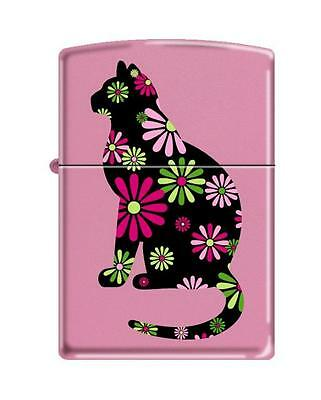 Zippo Funky Cat Pink Matte Windproof Lighter 21062 NEW