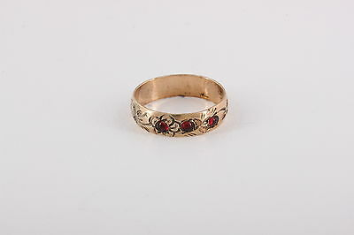 Young Child's Ring Victorian Gold Plated  Etched Design Fashion Ring 5366