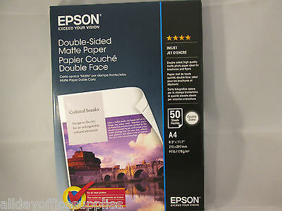 Original Epson Paper S041569 Double-Sided Matte Paper 178g/m² 50 Sheets A4