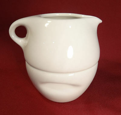Russel Wright Iroquois Off White Mid Century Modern Stacking Creamer & Sugar