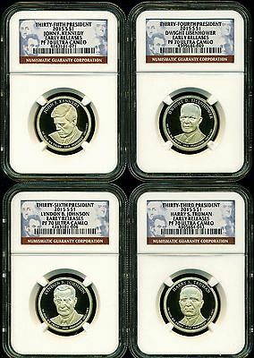 2015 S Ngc Pf70 Er Ultra Cameo Annual 4 Coin Proof Presidential Dollar Set
