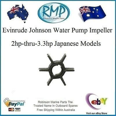 A Brand New Water Pump Impeller Suits Evinrude Johnson 2hp-thru-3.3hp # R 114812