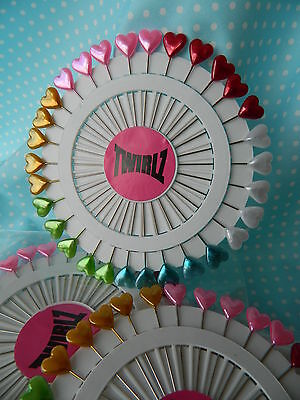 30 x Pearl Head Heart Pins X- Long ~ For Sewing Quilting & Dressmaking