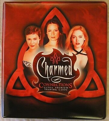 Charmed Connections Trading Card Binder with 72 Card Base Set + Binder Pages