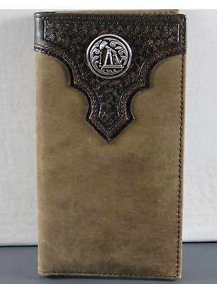 Pump Jack Oil Petroleum Ariat Checkbook Cover Western Wallet Billfold Checkbook