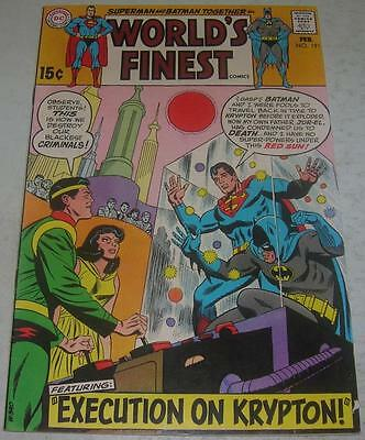 WORLD'S FINEST #191 (DC Comics 1970) SUPERMAN & BATMAN (FN-) JOR-EL & LARA