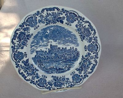 Blue \u0026 White 9 in Plate Unicorn Tableware Hand Engraved Royal Homes of Britain & UNICORN Tableware Blue White WINDSOR CASTLE Plate Coaster England 4 ...