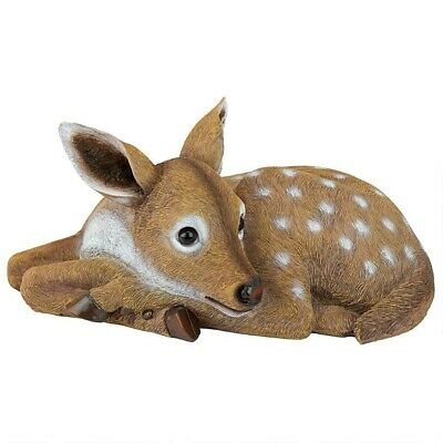 Deer Baby Forest Fawn Garden Sculpture Wildlife Statue Yard Decor