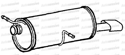 Peugeot 307 1.6 Nfu 4 Hatch Be4R Gearbox Exhaust Silencer Muffler Tail Pipe