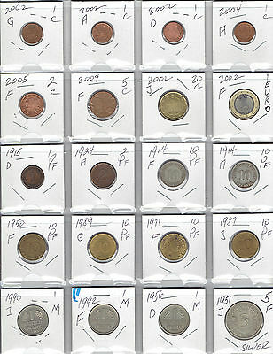GERMANY Lot of 60 Different Coins - Nice mostly older Germany coin lot