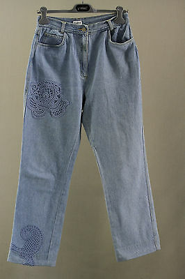 Jean Vintage Together Bleu Clair Broderie T 38