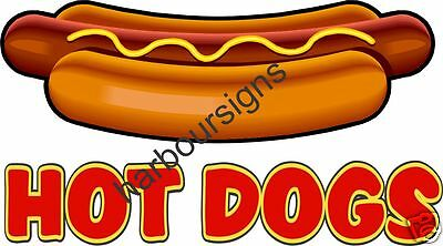 """Hot Dogs Concession Decal 10"""" Food Restaurant  Menu"""