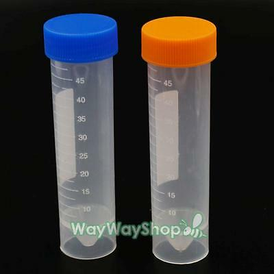 50ml specimen container Empty with Security screw cap sterile plastic sample jar