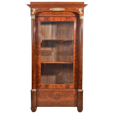 Antique French Empire Mahogany Bookcase c.1820