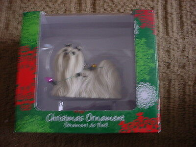Sandicast Chrismas Ornament Maltese Dog With Lights New In Box