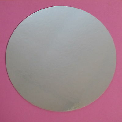 """10"""" Round Silver Foil Cake Boards Display Set-up Circles Rounds NEW"""