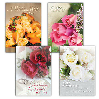 Wedded Bliss, Box of 12 Assorted Wedding Cards