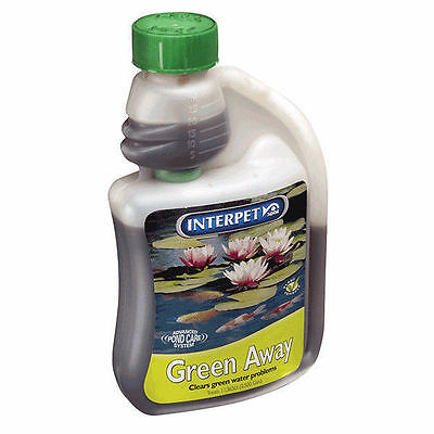 Blagdon Green Away 250ml 500ml 1000ml Clears Green Water Interpet
