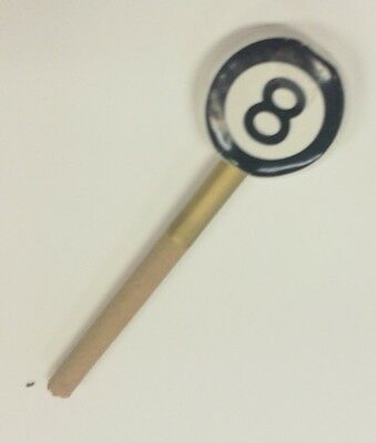 Eight Ball Ceramic Cigarette Holder Smoking Stone Also Good For Small Cigars