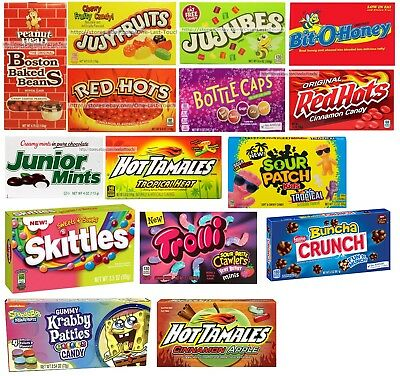 THEATER BOX^ Candy/Candies CHEWY+HARD+GUMMY Exp. 1/18+ YOU CHOOSE Various Brands