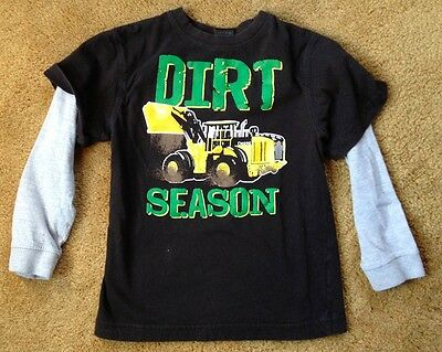 JOHN DEERE Dirt Season long sleeve t shirt size youth
