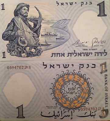 Israel 1958 1 Lira Uncirculated Banknote P-30 Fisherman From A Usa Seller !!!