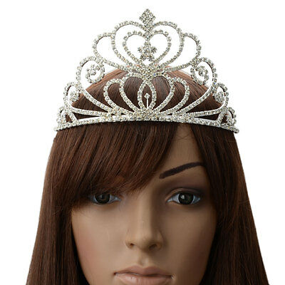 Elegant Wedding Bridal Tiara Rhinestone Crystal Crown Pageant Prom Hair Headband