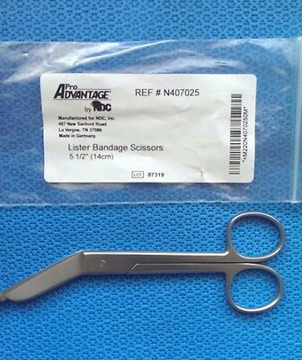 "Integra MILTEX Lister Bandage Scissors 5½"" #N407025 NEW German Stainless Steel"