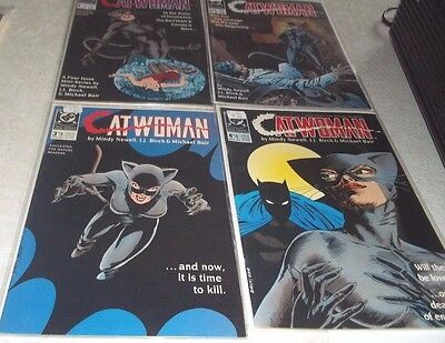 Catwoman 1989~Catwoman 1-4~ First Prints Complete ~ Mini Series ~ Vf ~ Ec