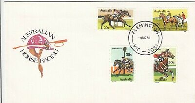 1960 Australia Melbourne Cup horse race stamp issues on HIGGINS manufacture FDC