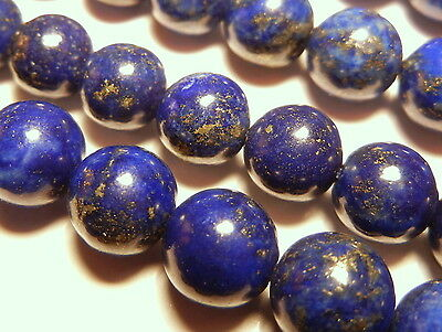 20pc 6mm Quality Lapis Lazuli Pyrite Natural Genuine Gemstone Round Beads GR608