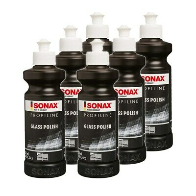6x 250ml SONAX PROFILINE GLASSPOLISH GLASS GLAS POLISH GLASPOLITUR POLITUR