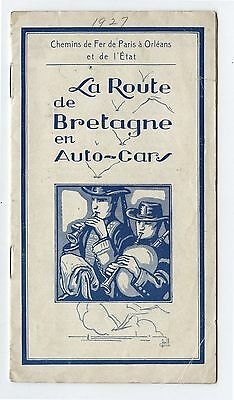 Old 1927 Automobile Road Services of Brittany Motor Cars Brochure