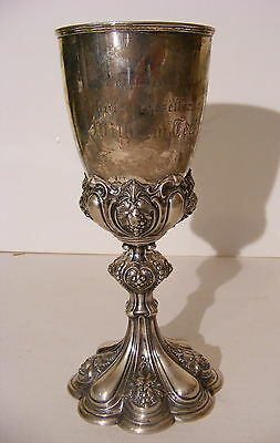 Antique 1871 German Shooting Society .800 Silver William Tell Trophy Cup