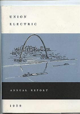 Old 1959 Union Electric Annual Report Booklet