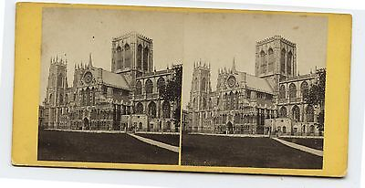 Antique Stereoview European Cathedral