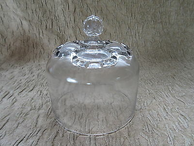 Antique EAPG Nova Scotia Glass Crown Pattern Cheese Bell Cover Lid