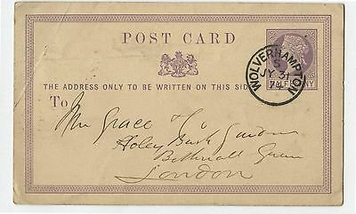 Old 1874 Great Britain Post Card Postal Stationery Wolverhampton