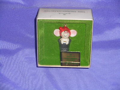 1978 Hallmark Little Tree Trimmer Mouse N Thimble Ornament 1St W/ Bx & Tag