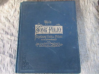 Antique 1883 Song Folio Vocal Sheet Music for Piano or Organ Book
