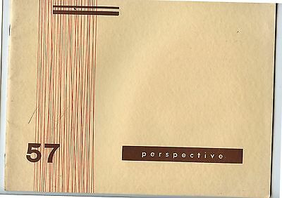 Old 1957 Book University of Manitoba Architectural Society Perspective