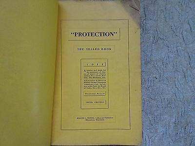 Protection The Sealed Book by Joeph E Meyer. 1911 Third Edition Gambling Casino