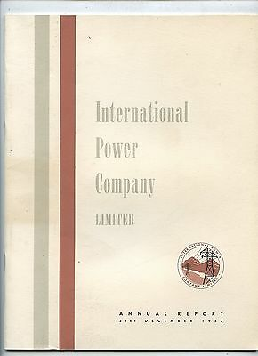 Old 1957 International Power Company Annual Report