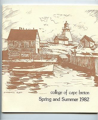 1982 College of Cape Breton Spring & Summer Sessions Catalog