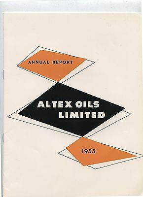 Old 1955 Altex Oils Limited Annual Report