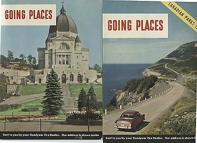 3 Old 1950's Good Year Tires Going Places Brochures Canada