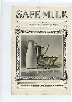 Old 1926 Booklet Safe Milk Pasteurization