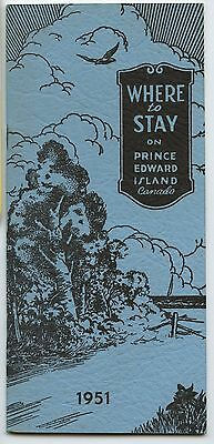 Old 1951 Where to Stay on Prince Edward Island Tourist Booklet