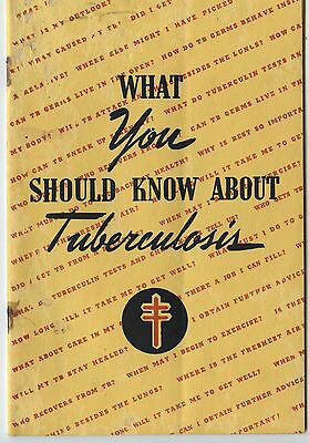 Old 1943 What You Should Know about Tuberculosis Booklet Canada
