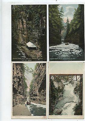 4 Antique Postcards Ausable Chasm New York